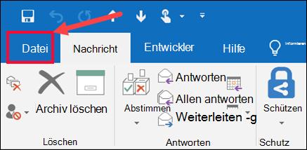 Wählen Sie das Menü Datei und dann speichern unter aus.
