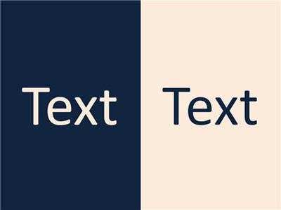 Text vor kontrastierendem Hintergrund