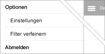 "Option ""Filter verfeinern"""