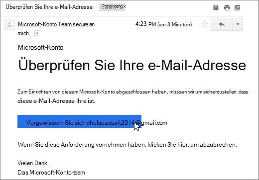 Ihre E-Mail-Adresse bestätigen