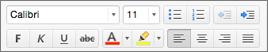 Formatierungsschaltflächen in Outlook für Mac