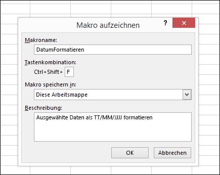 Automatisieren von Aufgaben mit der Makroaufzeichnung - Office-Support