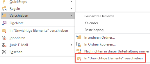 "In ""Clutter"" verschieben"