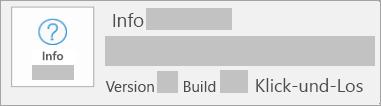 Screenshot, der zeigt, dass es sich um eine Klick-und-Los-Installation handelt