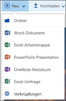 Office 365 – Erstellen eines neuen Ordners oder Dokuments