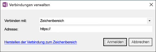 "Screenshot des Dialogfelds ""Verbindungen verwalten""."