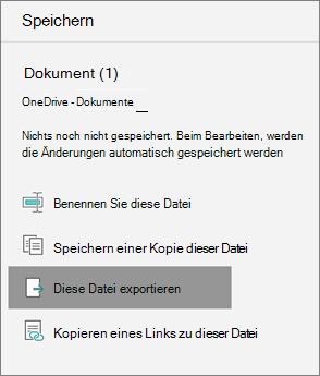 Diese Datei exportieren