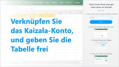 Screenshot: Kaizala-Telefonnummer für die Anmeldung hinzufügen