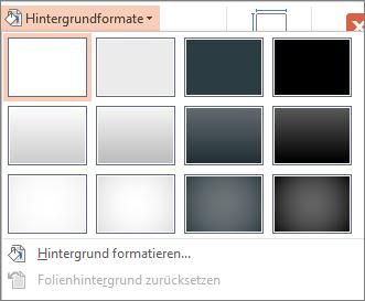 PowerPoint-Hintergrundformate