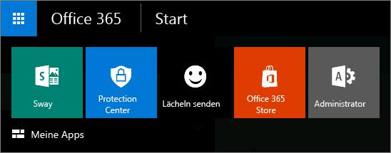App-Startfeld für neues Admin Center