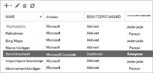 Klicken Sie in der Exchange-Verwaltungskonsole können Sie den Berichtnachricht-add-in für Outlook aktivieren
