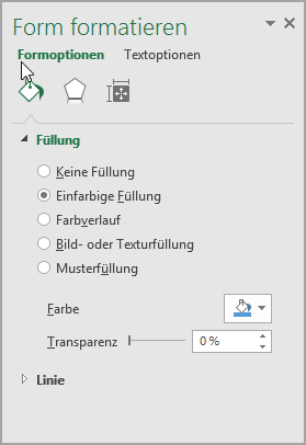 Formatieren von SmartArt-Shapes