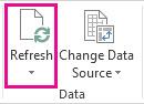 Schaltfläche 'Aktualisieren' auf der Registerkarte 'Analysieren'