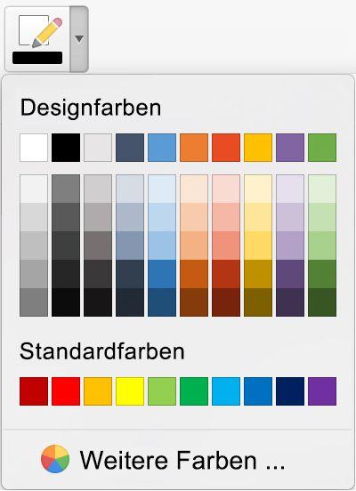 Erweiterte Auswahl von Freihandfarben