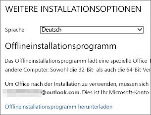 Offlineinstallationsprogramm herunterladen