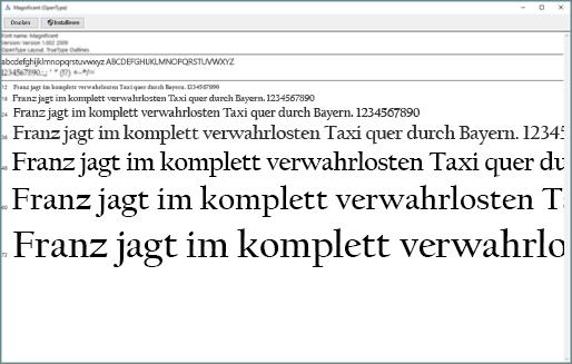Mit der Windows Font-Vorschau können Sie Schriftarten auf Ihrem Windows-Computer anzeigen und installieren.