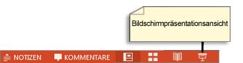Schaltfläche 'Bildschirmpräsentationsansicht'