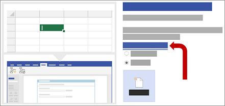 Auswählen der Excel-Datenvorlage