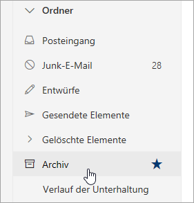 Screenshot des Archivordners