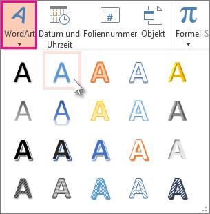 WordArt-Formate