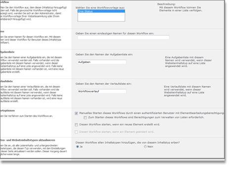 Fenster 'Workflow hinzufügen'