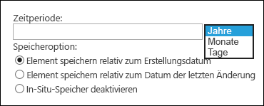 "Option ""Zeitraum"""
