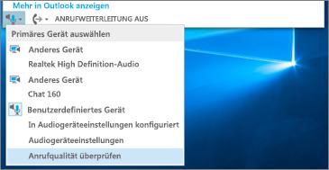 Anrufqualität für benutzerdefiniertes Gerät überprüfen