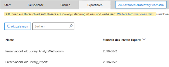 Registerkarte ' exportieren ', Sie können mehrere Suchen