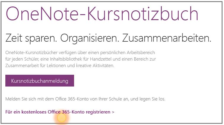 Screenshot der Vorgehensweise zum Erhalten eines kostenlosen Office 365-Kontos