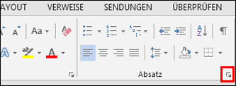 "Dialogfeld ""Absatz"" in Word"
