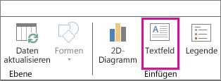 """Schaltfläche """"Textfeld"""" auf der Power Map-Registerkarte """"Start"""""""