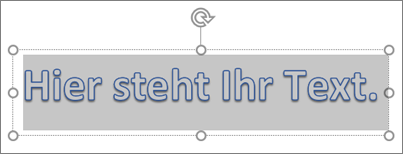 WordArt-Platzhaltertext