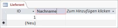 Bildschirmausschnitt von Feld zum Hinzufügen eines aussagekräftigen Namens für eine Spalte