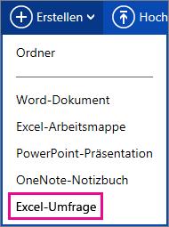 Excel-Umfrage erstellen