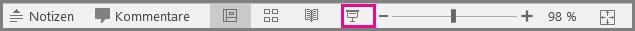 PowerPoint für Mac Bildschirmpräsentation Symbol in der Statusleiste