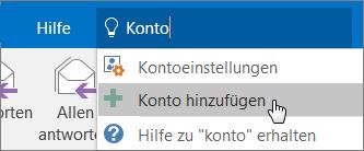 Mitarbeiter – Schnellstart: Outlook-Konto hinzufügen