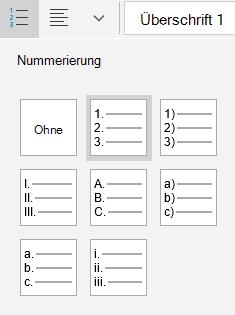 Mail für Windows 10-Optionen für geordnete Liste