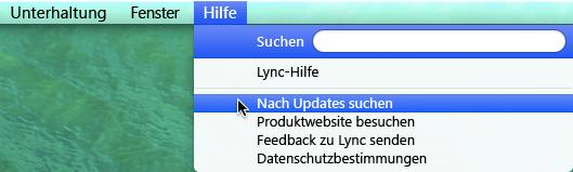 Klicken Sie auf 'Hilfe', und wählen Sie 'Nach Updates suchen' aus.