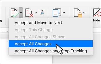 Alle Änderungen annehmen