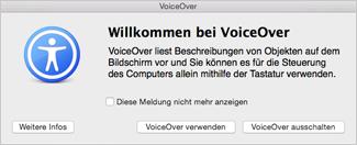 Aktivieren/Deaktivieren von VoiceOver