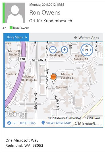 Wo befindet sich das Add-In Bing Maps für Outlook? - Outlook