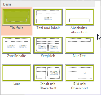 Folienlayouts in PowerPoint