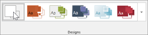 "Screenshot der Symbolleiste ""Designs"""