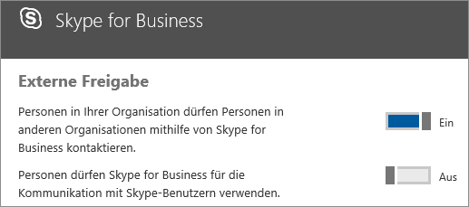 Mithilfe von Skype for Business Kontakte mit anderen Unternehmen ermöglichen