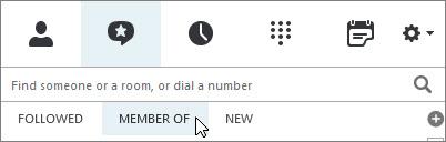 """Registerkarte """"Mitglied von"""""""
