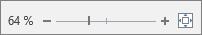 Angezeigter Zoomschieberegler zum Vergrößern oder Verkleinern von Text