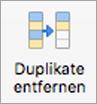 """Schaltfläche """"Duplikate entfernen"""""""