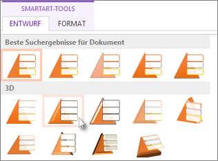 Anwenden einer SmartArt-Formatvorlage