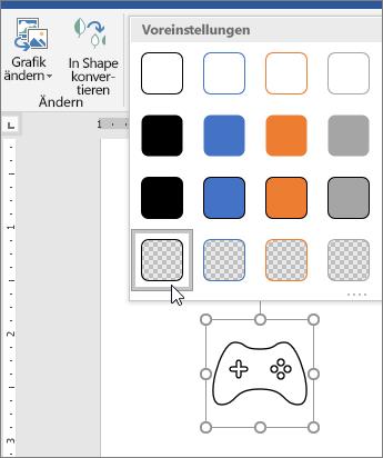 Bearbeiten des grafischen Formats eines Symbols