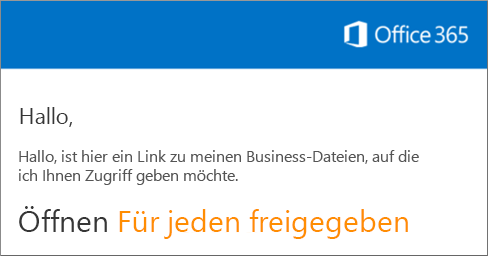 """Öffnen Sie die E-Mail, und klicken Sie auf """"Website öffnen""""."""